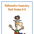 Math Vocabulary Definition Bank Grades 6-8
