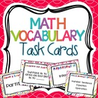 Math Vocabulary Enrichment Task Cards