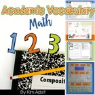 Math Vocabulary Journal and Word Wall