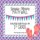 Math Wall: 1st Grade, CC Unit 4