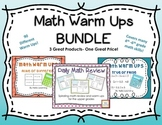 Math Warm Ups- BUNDLE- daily math practice and spiraling review