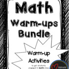 Math Warm-ups Bundle