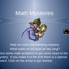 Math Word Problem Power Point Game