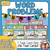 Math Word Problem Task Cards: 8 Set Bundle (256 cards!)
