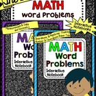 Math Word Problems Interactive Notebook - BUNDLE