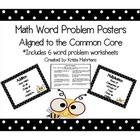 Math Word Problems and Posters of Key Words/Common Core Standards