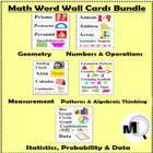 Math Word Wall Cards Bundle
