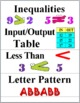 Math Word Wall Cards - Patterns and Algebraic Thinking
