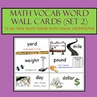 Math Word Wall Vocab Cards - Set 2