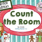 Math Work Stations - Christmas Count the Room