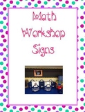 Math Workshop: Labels, I-Charts, and Magnetic Bulletin Boa
