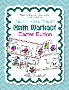 Math Workout Addition 10 to 20 - Easter Edition