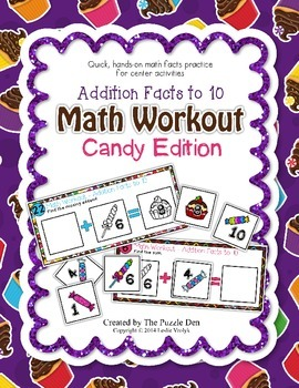Math Workout Addition to 10 - Candy Edition