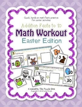 Math Workout Addition to 10 - Easter Edition