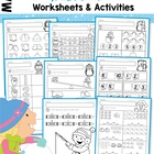 Math Worksheets & Activities - Winter (Beginning Skills)