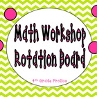 Math Workshop Rotations Board