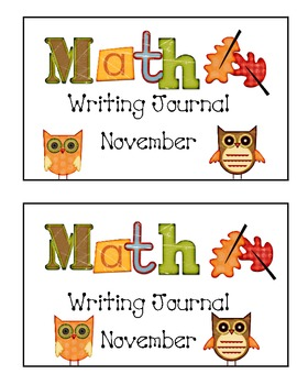 Math Writing Journal-November