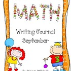 Math Writing Journal-September