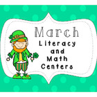 Math and Literacy Centers K-2 {March/St. Patrick's Day}