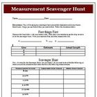 Math and Measurement Scavenger Hunt Common Core Standard