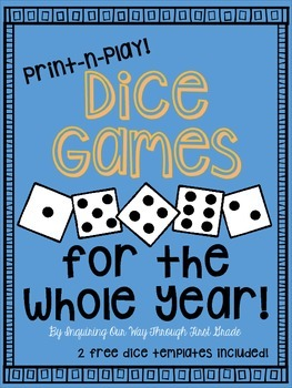 Math and Reading Dice Games for the Whole Year!