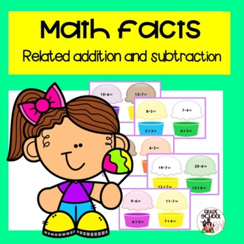 http://www.teacherspayteachers.com/Product/Math-facts-related-addition-and-subtraction-721073