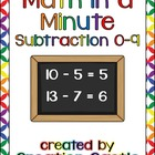 Math in a Minute Subtraction Packet