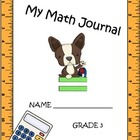 Math journal 3rd grade  CCSS aligned extended responses-En