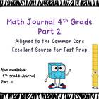 Math journal 4th grade CCSS extended responses  End of the