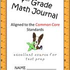 Math journal 4th grade CCSS extended responses GREAT FOR T