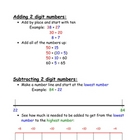 Math strategy anchor chart for 2 digit addition and subtraction