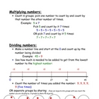 Math strategy anchor chart for multiplying and dividing