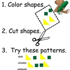 Math task card patterns