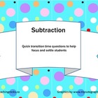 Mathematics: Subtraction Quick Question Pack (Gr 4 &amp; Up)