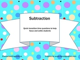 Mathematics: Subtraction Quick Question Pack (Gr 4 & Up)