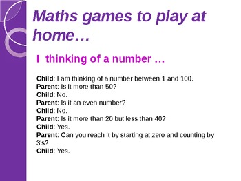 Maths Workshop for Parents Powerpoint