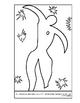 Matisse, Henri.  Icarus.  Coloring page and lesson plan ideas