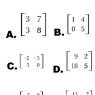 Matrix Determinant Line-Up Activity