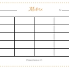 Matrix Graphic Organizer