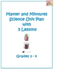 Matter and Mixtures Science Unit Plan with 5 Lessons