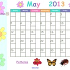 May 2013 Calendar for Smartboard