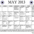 May 2013 Language Calendar