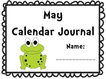 May Calendar Journal (Integrates math and literacy!)