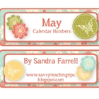 May Calendar Numbers #1