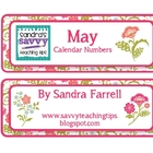 May Calendar Numbers #2