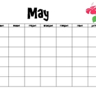 May Calendar and Activities