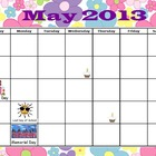 May Calendar for ActivInspire