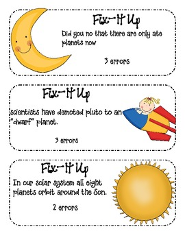 May Daily Fix-It Up Sentences