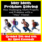 May Differentiated Math Problem Solving Menu (Common Core
