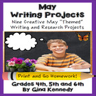 May Differentiated Writing Enrichment Menu (Common Core Aligned)